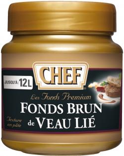 Fonds brun de veau lié