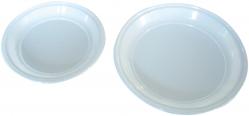 Assiettes rondes couleur blanche