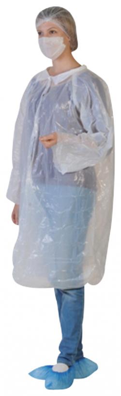 Kit visiteur avec blouse, charlotte et masque papier