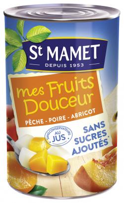 Mélange de fruits pêche, poire, abricot