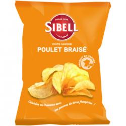 Chips croustillantes poulet braisé