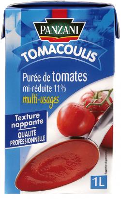 Purée de tomates mi-réduites