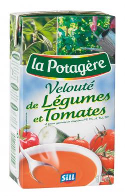 Vélouté de légumes et tomates