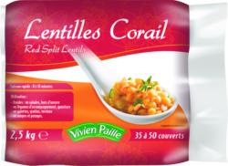 Lentilles corail