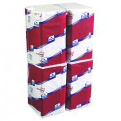 Serviettes couleur blanche 4 plis 32x24 cm