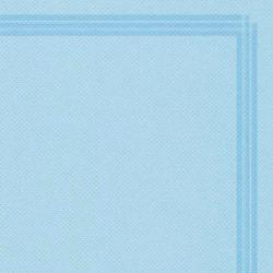 Serviette microgaufrée à liseré couleur bleu caraïbe