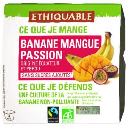 Purée banane-mangue-passion BIO et équitable