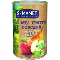 Mes fruits douceur, pommes, poires et pêches BIO